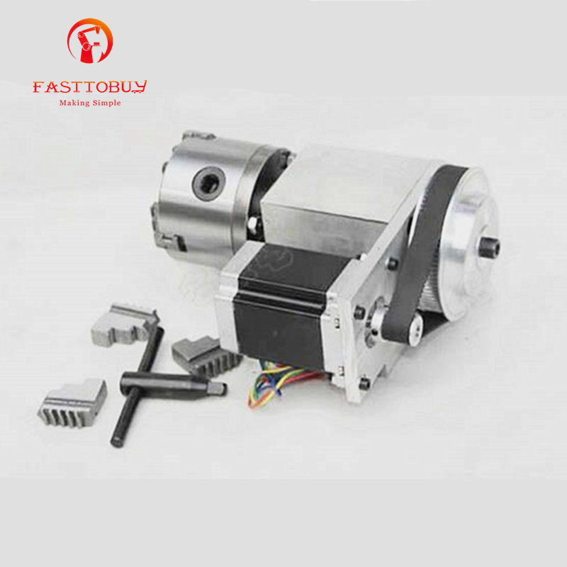 цена на New K11-80 3 Jaw Electric Chuck CNC Rotary Axis 80mm 4th A axis Ratio 6:1 for CNC Rotary Axis New 1 Year Warranty