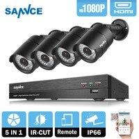 SANNCE 4CH 1080 P HD CCTV системы 2400tvl DVR 4 шт. 2.0MP ИК Ночное видение камеры безопасности 1080 товары теле и видеонаблюдения комплект