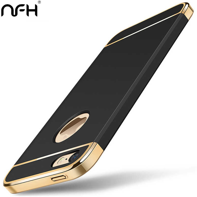 360 Protection Comfortable Matte Shockproof Case For Apple iPhone 5 5S SE Plating Plastic Slim Bumper Cover Housing On 5 SE 4.0""