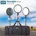 Viltrox VL-500T 2/3 шт. 25 Вт Видео Светодиодная лампа для студии двухцветная тонкая лампа с регулируемой яркостью + 3 шт. световая нить для камеры Facebook...