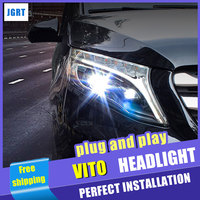 Car Styling Headlight assembly 2017 for Benz vito LED DRL Lens Double Beam H7 hid kit with 2pcs.