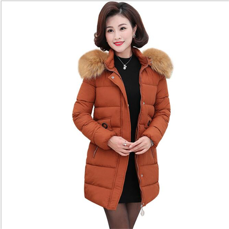 2018 fashion new   parka   women winter jacket women's casual ladies long solid color warm woman coat Abrigos G162