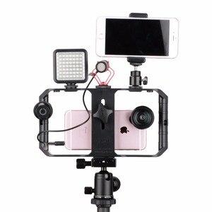 Image 4 - Ulanzi U Rig Pro Smartphone וידאו Rig w 3 נעל Mounts קולנוע מקרה כף יד טלפון וידאו אחיזת מייצב חצובה הר Stand