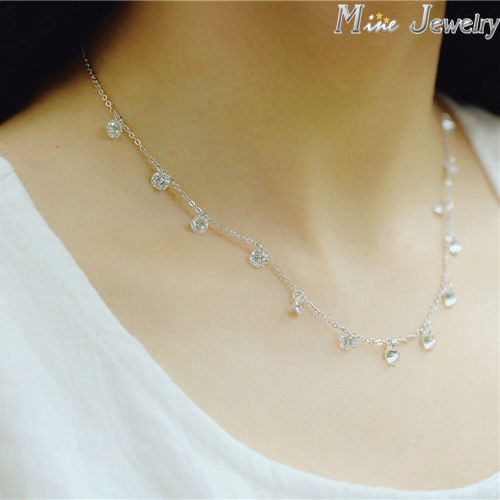 925 Silver Crystal Beads Necklace