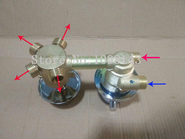 Bathroom Faucet Mixing Valve aliexpress : buy 4 ways thermostatic shower faucet valve