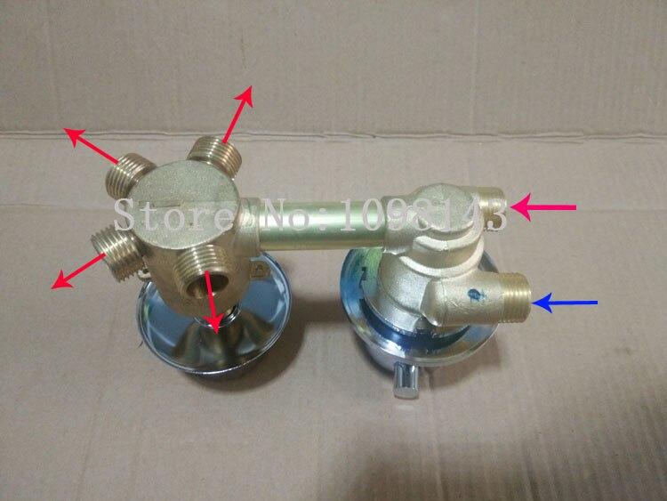 Vanne de robinet de douche thermostatique à 4 voies, mitigeur de robinet de salle de bain en laiton, mitigeur thermostatique