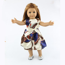18 inch American girl dolls clothes manually white wedding dresses children Christmas gift free shipping W31