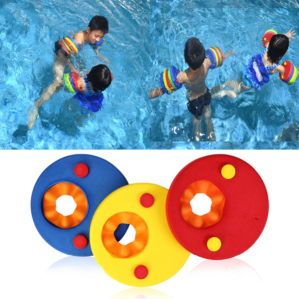 Arm Floats For Kids Safe Detachable Swimming Training Equipment Swim Band Easily Learn To Swim Colorful 2PCS Swim Discs