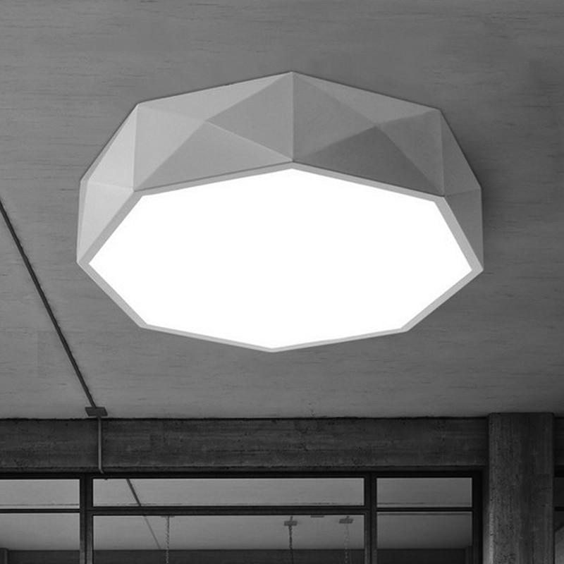 Moderne chambre salon LED plafonniers agir rôle Ofing circulaire géométrique cuisine toilette absorber dôme lumière livraison gratuite