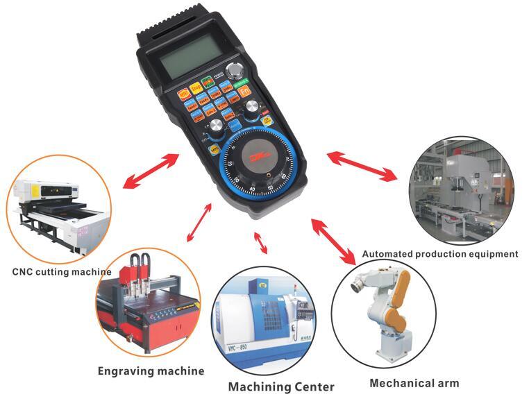 Wireless USB Mach3 MPG Pendant Handwheel for mini CNC Router engraver machine