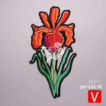 embroidery big flowers patches for jackets,flower badges jeans,applique clothing A626