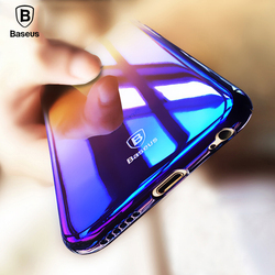 Étui pour iphone X 6 s plus original Baseus étui pour iphone X 6 s Plus de luxe avec Gradient de couleur Aurora étui pour iphone X 6 6 s plus étui rigide pour PC