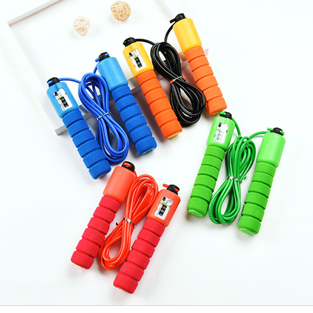 Hot Sell New Jump <font><b>Ropes</b></font> <font><b>With</b></font> <font><b>Counter</b></font> Sports Fitness Adjustable Fast Speed Counting Jump Skip <font><b>Rope</b></font> <font><b>Skipping</b></font> Wire <font><b>Calories</b></font> image