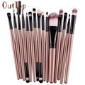 Brand Professional Cosmetic Makeup Brush Women Foundation Eyeshadow Eyeliner Lip Make Up Eye Brushes Set 15 Pcs Dropship