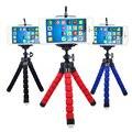 ¡ Caliente! mini pulpo trípode flexible de escritorio conferencia esponja holder mount teléfono soporte para iphone 6 s 7 s plus xiaomi cellphon