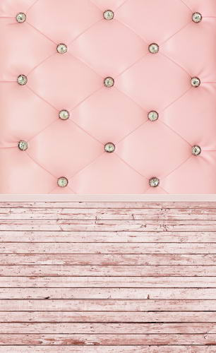 Customize pink headboard vinyl cloth print photography backdrops for girls portrait photo studio backgrounds props HG-318