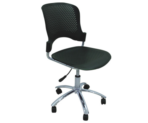 Beau Ergonomic Computer Chair Student Task Chair Revolving Office Chair 5 Star  Chrome Finish Base