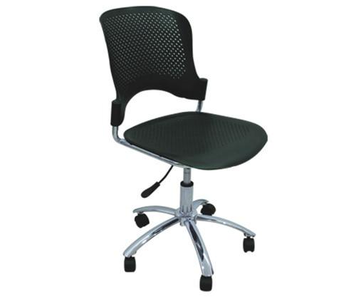 Chair Revolving Steel Base With Wheels Tripod Folding Ergonomic Computer Student Task Office 5 Star Chrome Finish