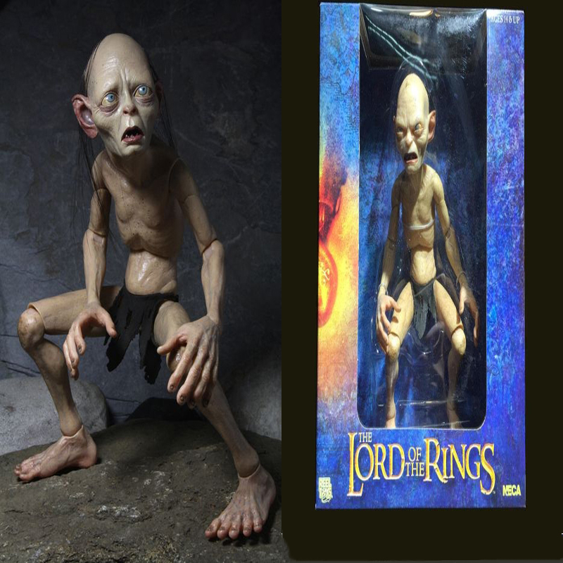 1/4 Scale Action Figure Model Toys Lord of the Rings Gollum Smeagol Movable dolls Hobbit Toys & Dolls Hobbies for Boys Kids Gift