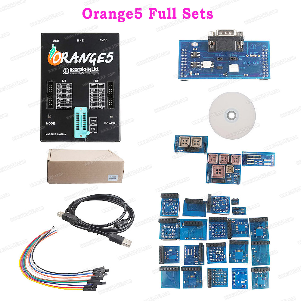 Free Shipping OEM Orange5 Programmer Orange 5 Professional Programming Device with Full Adapter and Software
