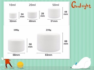 Image 5 - 50 PCS Free Shipping 10 20 100 ML Plastic Empty Bottles Jars Inner Cap Cosmetic Cream Eye Gel Butter Packaging Containers