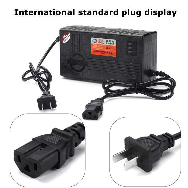 60V 20AH Battery Charger For Scooter Wheel Electric Bicycle E-bike Lead Acid Battery