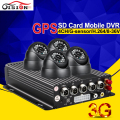 3G GPS 4CH H.264 Realtime Monitoring Vehicle Mdvr Kits,Motion Detection G-senor GPS Track 3G Car Dvr +Car Surveillance Camera
