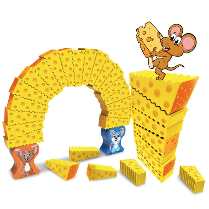 Cheese Stack Cake Tower Falling Toy Crazy Mouse Cake Jenga  Children's Puzzle Board Game The Best Gift For Kid