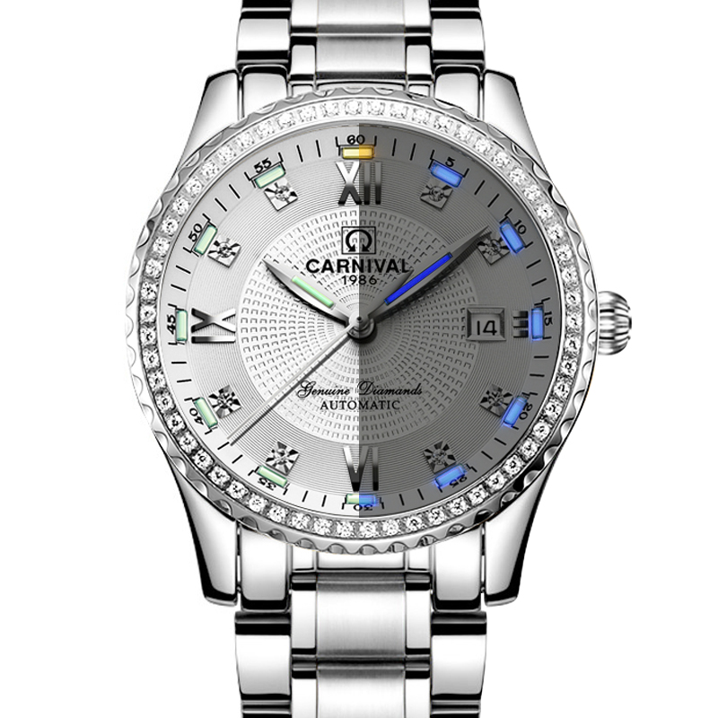 Carnival Top Brand Luxury Mens Watches Automatic Self-Wind Watch Men Sapphire reloj hombre Luminous Hand relogio clock C8737G-1 Carnival Top Brand Luxury Mens Watches Automatic Self-Wind Watch Men Sapphire reloj hombre Luminous Hand relogio clock C8737G-1