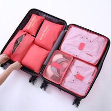 7PCs/Set Travel Storage Accessory  Bag Clothes Tidy Pouch Luggage Organizer Portable Container  Travel Storage Bag Organazier