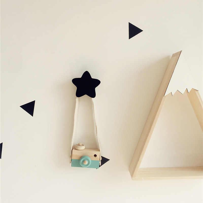 壁フック装飾木製ドアフック冷蔵庫キッチンルームのインテリア冷蔵庫木製フック 3D ステッカー子供ルーム装飾