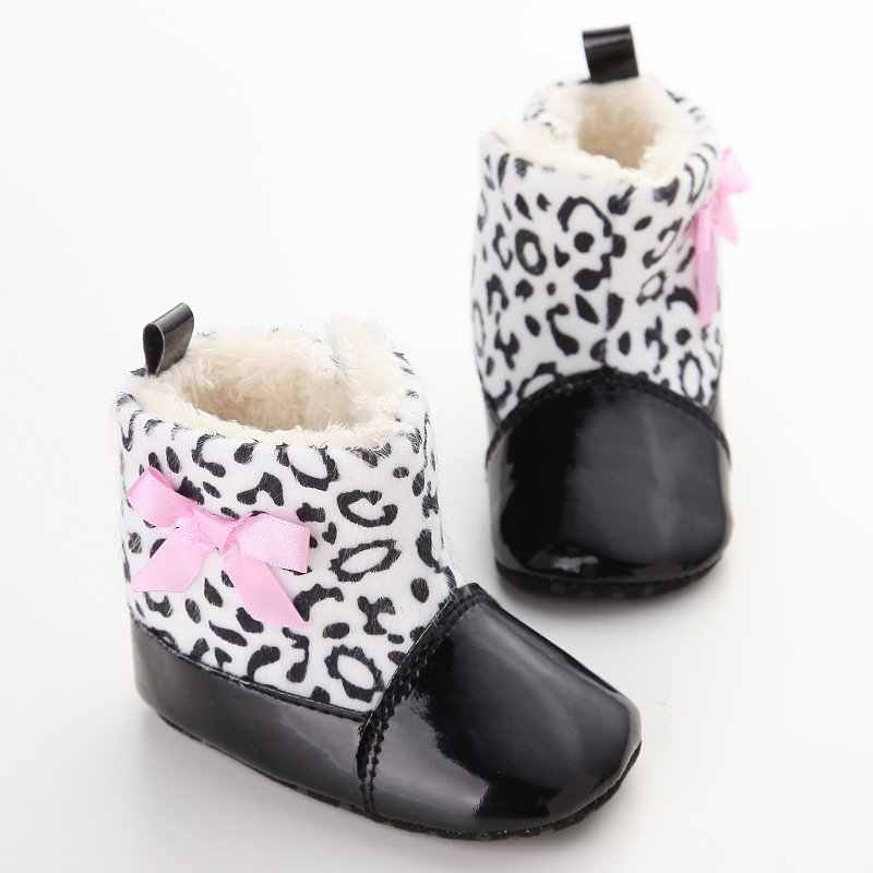 Zapatos de bebé PU acolchado niño bebé niños niñas botas suaves zapatos de bebé recién nacido invierno cálido