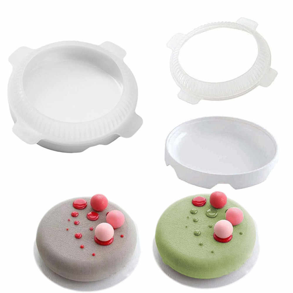 2pcs Silicone Cake Molds Flat Top Round Shaped Small Ball Silicone Mousse Cake Molds Dessert Bakeware Baking Pastry Tools #10T