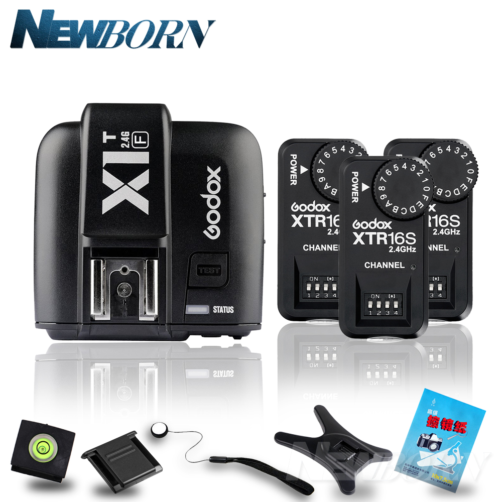 купить Godox X1T-F TTL 2.4G Wireless Trigger for Fujifilm + 3X XTR-16S Flash Receiver for V850/V860C/V850II/V860IIC/V860N/V860II-F по цене 4714.95 рублей