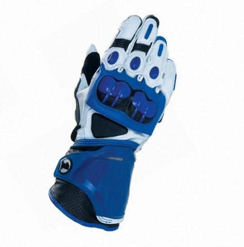Moto PRO gants Moto Racing Team equitation Street Bike véritable cuir de vachette gants bleu