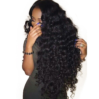 250% Density Lace Front Human Hair Wigs For Women Natural Black 13x6 Lace Front Wig Pre Plucked Wavy Wigs Remy You May