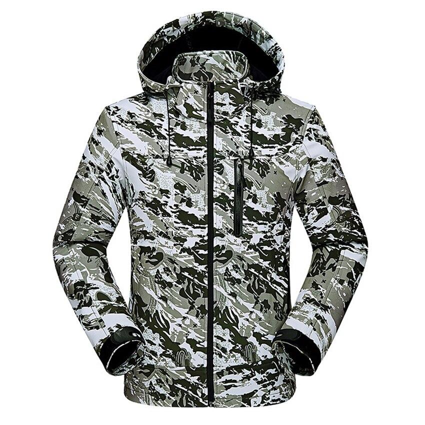 Men's Women's Spring Thin Fleece Softshell Jackets Outdoor Waterproof Coats Hiking Trekking Fishing Climbing Windcheater VA169