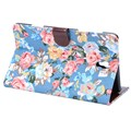Cotton Print Design Folio PU Leather Case 8.4 Inch For Samsung Galaxy Tab ST700 Quickly Folds Into A Perfect Stand