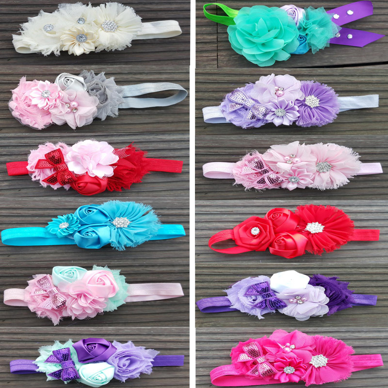 US $4 01 18% OFF|POSH DREAM Baby Girl Flower Headband Elastic Hairband  Children Hairwear for Kids HeadBand Flower Headband Baby Hair  Accessories-in