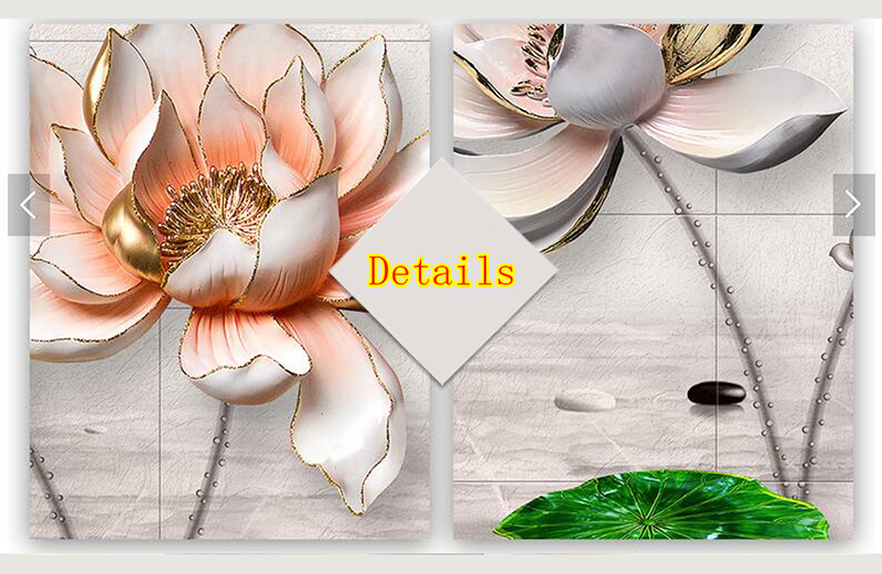 HTB1tvLXsSBYBeNjy0Feq6znmFXa6 Modular Pictures 3D Art Flower Lotus Poster Wall Art Modular Paintings For Kitchen Wall Pictures Living Room Canvas Painting