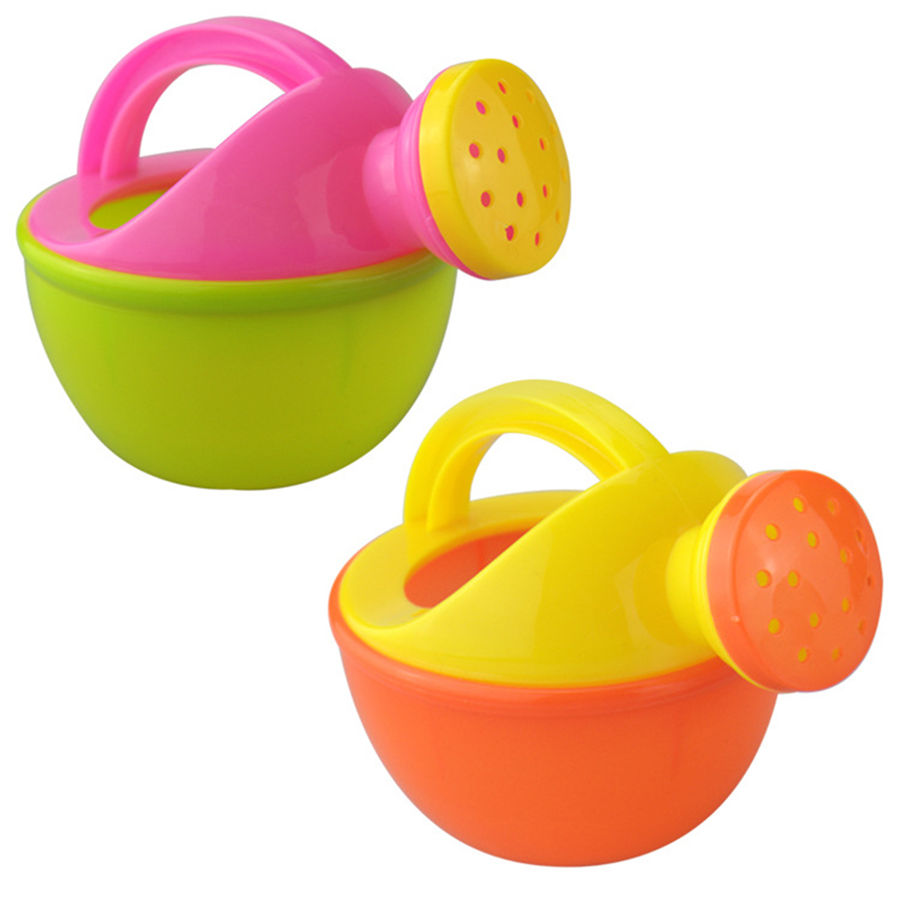Baby Bath Toy Colorful Plastic Bathing Shower Watering Can Pot Beach Play Sand Fun Gift Toys for Children Kids Random Color 1