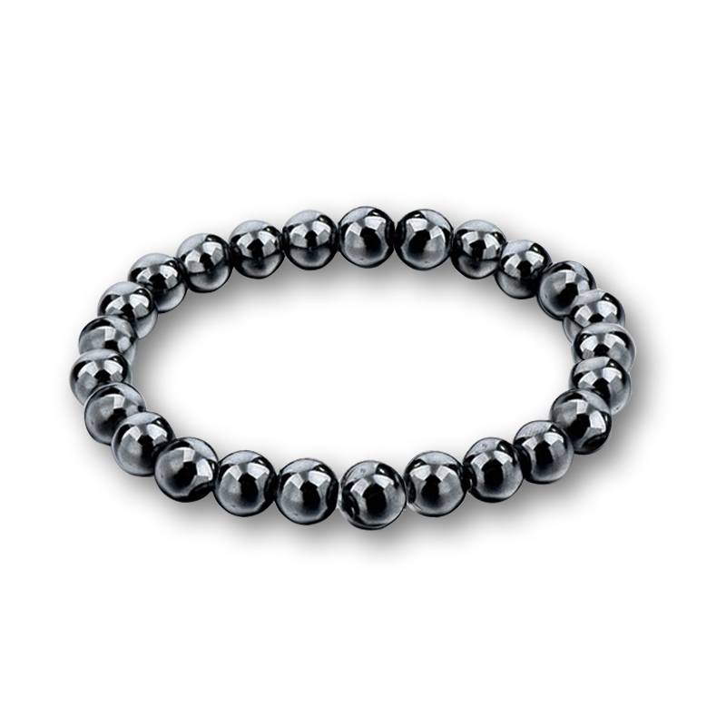 Fashion Charm Transparent White Bead Black Gallstone Bracelets For Women Natural Stone Men Hematite Beads Bracelet Cool Jewelry