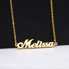 Name Necklaces for Her Custom Name Necklace Personalized Name Necklaces Gold Chain Stainless steel chain Gift for Women women gold necklaces custom name engraving necklace love heart collar birthstone chain jewelery christmas day gift for mother
