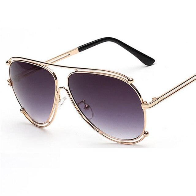 2ae85bfc388a 2016 New Fashion Women Aviator Sunglasses Men brand designer Metal Frame Sunglasses  Flat Coating Mirror Lens Oculos de sol