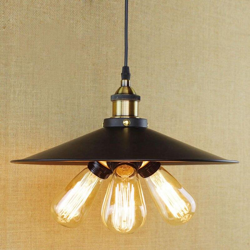 3 Heads Vintage Pendant Lamp Industrial Style Edison with Black Iron Lampshade Modern LED Pendant Lights for Dining kitchen Room рубанок ugo loks 230мм лезвие 44мм