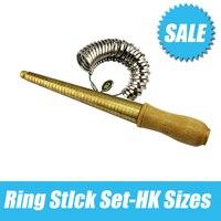 Copper Ring Stick Gauge Finger And Ring Sizer Set Measure Finger Size Ring Gauge Metal Finger
