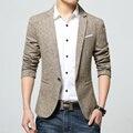 Весна мужчины пиджак мода 2016 новое поступление марка - одежда белье мужчин пиджак куртка свободного покроя slim-подходят деловой костюм мужское пальто