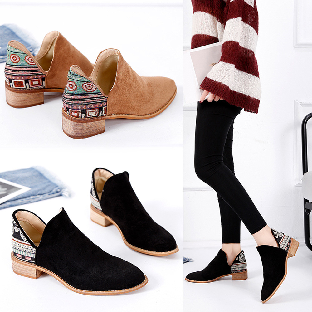 db7c882839f Cheap Ankle Boots, Buy Directly from China Suppliers:Xiniu New Vintage Women  Square Heel