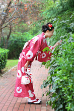 Autumn and Winter New Red Goldfish Handle Dress Traditional Wrinkle-free Ironing Japanese Yukata Kimono