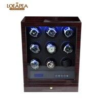 High end смотреть намотки 9 автоматические часы box Смотреть аксессуары деревянная коробка для хранения смотреть на День отца luxuty подарок
